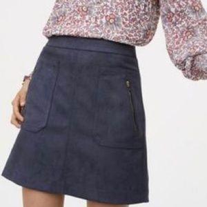 Loft navy suede skirt Size 6